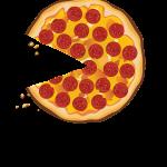food, refreshment, pizza